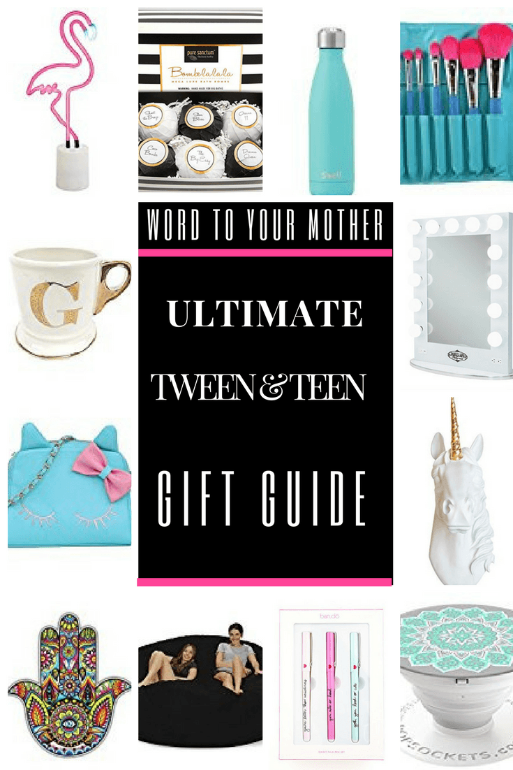 ULTIMATE GIFT GUIDE for TWEEN & TEENAGE GIRLS-Are you looking for cool & unique gifts for tweens and teenage girls for Christmas? Maybe you're looking for awesome stocking stuffers for girls? I asked my daughters, ages 16 & 9 (and their friends) & came up with a list of 50 fun & inexpensive gift ideas for girls for birthdays & holidays! Don't miss the two video reviews by my daughters! #giftguide