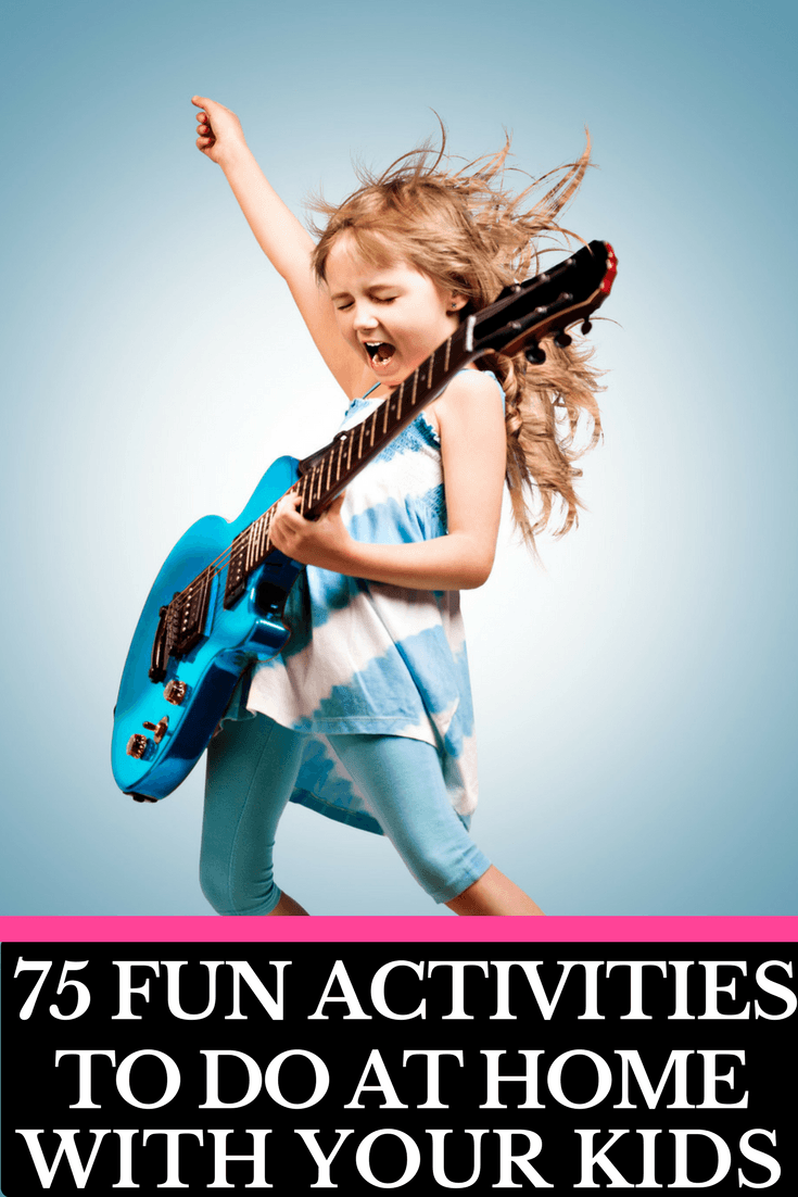 Ultimate Kids Activities Cheat Sheet! 75 Creative Activities for Kids | Looking for fun things for kids to do at home on weekends, rainy days, spring break, or during the summer months when they're bored? Whether you're looking for arts and crafts, LEGO activities, DIY fun, easy STEM projects, or fun family games we've got something your kids will love! From toddlers to tweens and teenagers there is an activity for every age on this list of the best boredom busters!