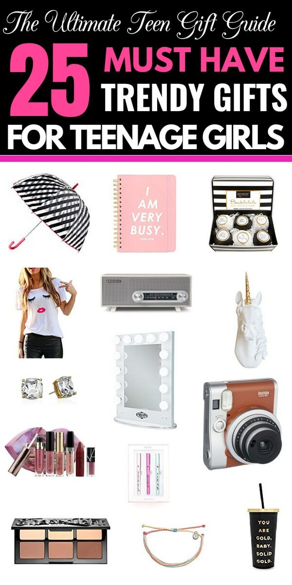 Gift ideas for Teen Girls Need gift ideas for your teenage girl for Christmas, birthday, or Sweet 16 that are unique & affordable? Look no further than this collection of 25 gifts for teen girls! Creative, cute, and simple gifts from room decor to beauty! No matter what your budget is I guarantee you'll find the perfect gift for your teenager here! #giftguide #giftguides #teenagergifts #teengifts #Christmas