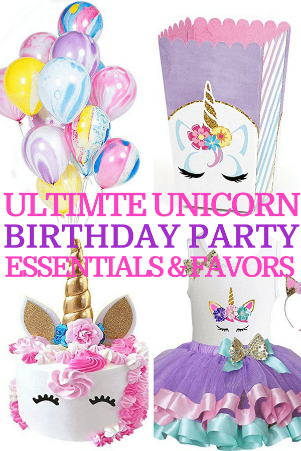 Searching for birthday party ideas? Check out the Ultimate Unicorn Birthday Party Guide for girls! It has the cutest unicorn birthday party decorations and cake ideas, plus fun unicorn games and activities kids love! Whether you're looking for unicorn party invitations, favors, ideas for goody bags, or photo booths this unicorn party guide has you covered! Click here to see it or pin it for later! #unicornparty #unicorn