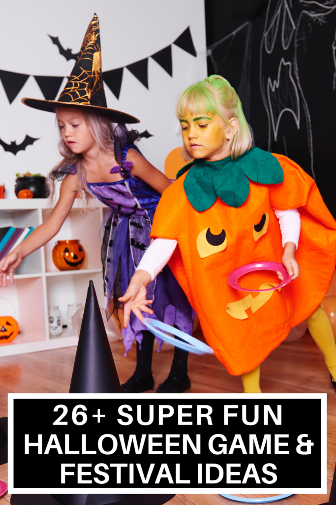 26 Halloween Games for Kids So much fun for kids! Check out these creative DIY's! Easy, cheap, & fun Halloween games for kids! Awesome ideas for school parties or fall festivals! #Halloween