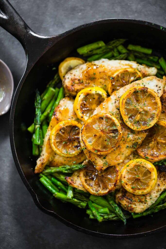 Clean Eating Dinner Recipes Easy healthy dinner ready in 30 minutes or less! Love this 5 ingredient lemon chicken from Pinch of Yum! The easiest clean eating dinner recipe ever!