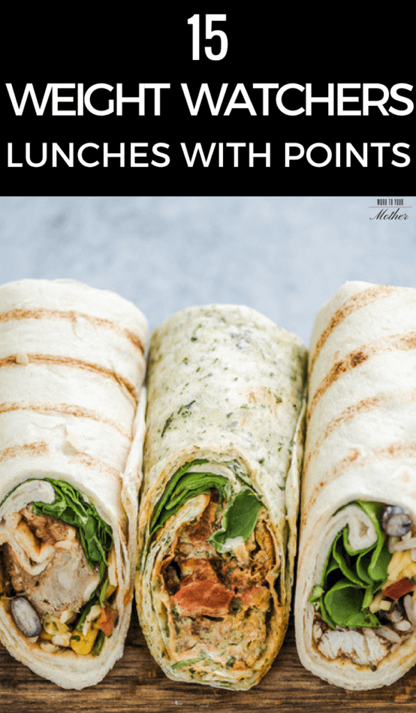 easy & healthy weight watchers lunch roll ups in a portable clean eating tortilla