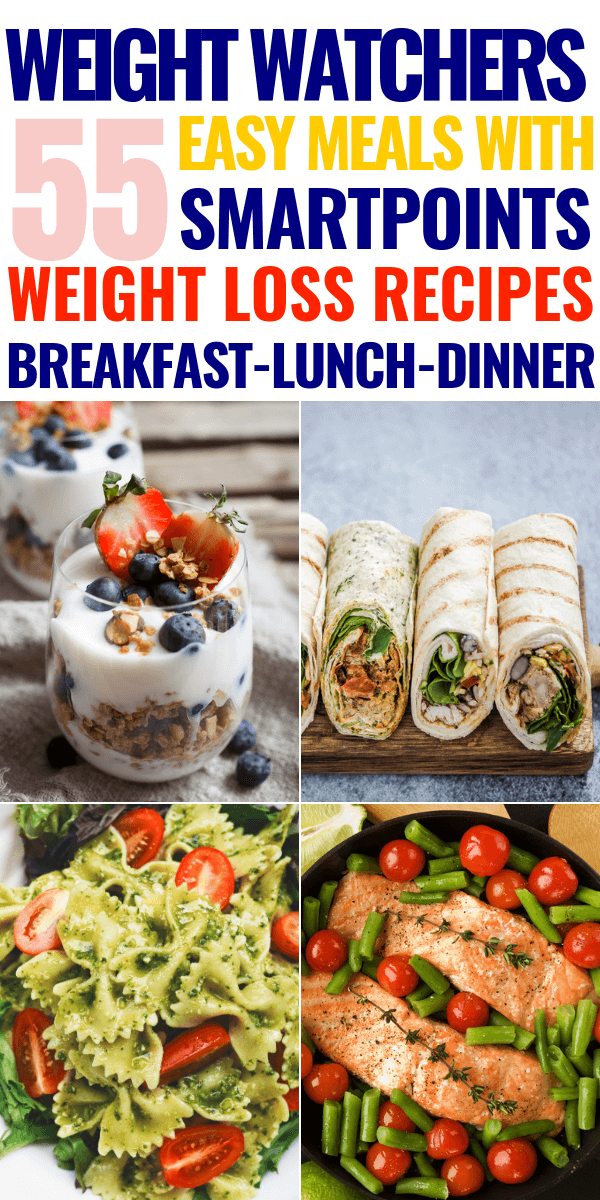 Weight Watchers Meals with Points! The Weight Watchers diet makes losing weight & staying healthy easy with delicious Weight Watchers recipes. Here are my 50 favorite weight watchers recipes for breakfast, lunch, dinner, & dessert with points / smartpoints! With make ahead recipes for the crockpot and easy Weight Watchers meals you can make in 30 minutes or less you don't want to miss this! #weightwatchers #weightwatchersrecipes #wwpoints #lowcalorie