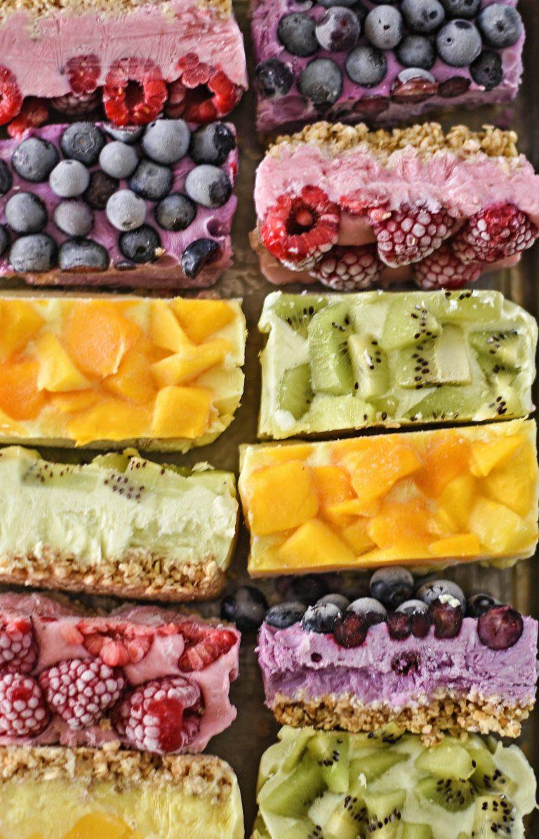 kid-friendly snack recipes Frozen Breakfast Bars from Fork & Beans