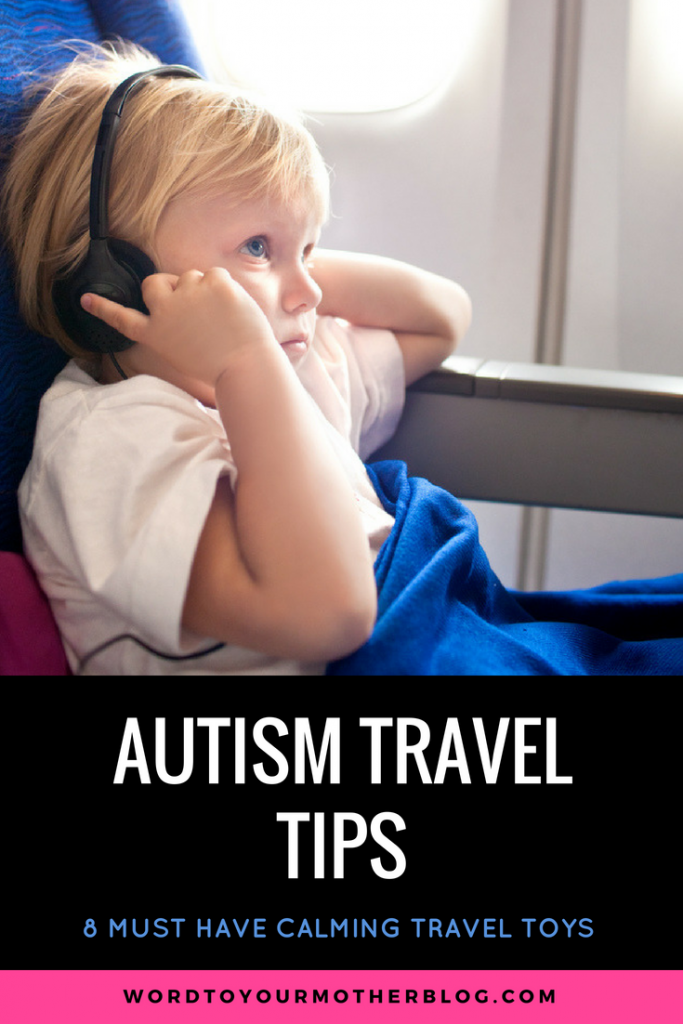 Autism Travel Tips Traveling with an autistic child? These are the must-have tips for your family vacation! Whether you're driving or flying these 7 travel tips will help you plan and pack accordingly for your autistic child! Plus, the best 8 travel toys that help calm sensory meltdowns! #autism #parenting #specialneedsparenting #ASD #SPD