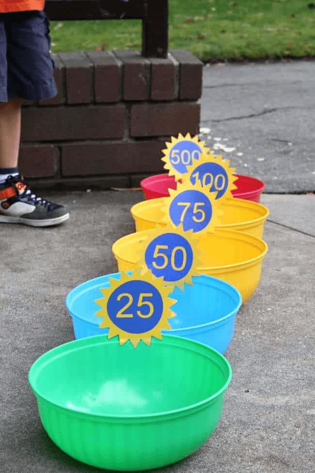 DIY Backyard Games Bean Bag Toss One More Moore