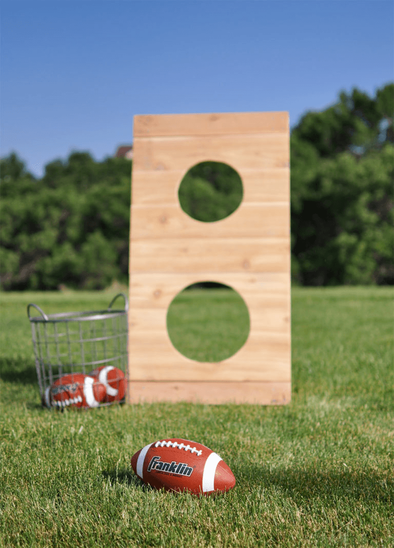 DIY Football Toss Cherished Bliss