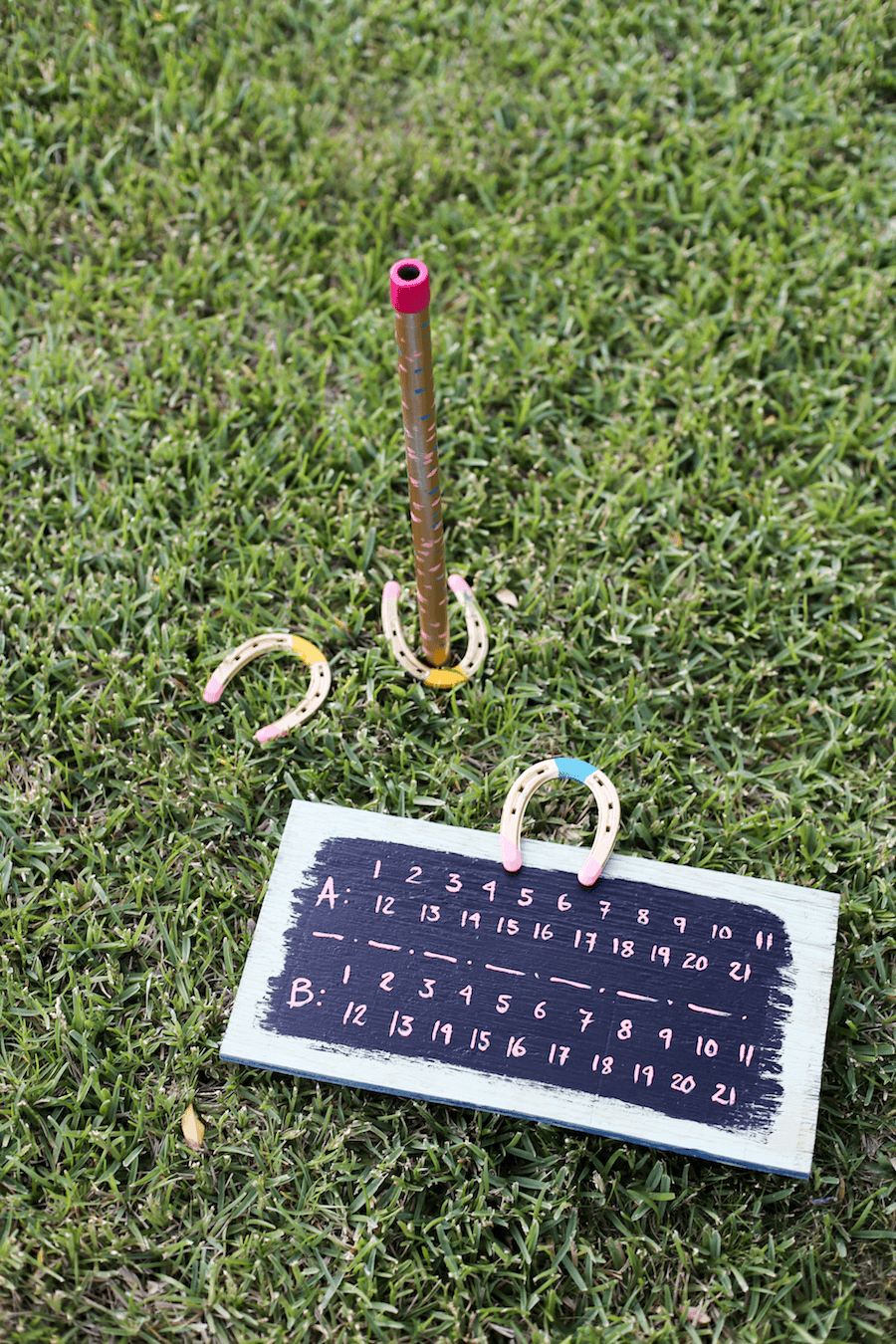 DIY Horseshoe Game Set from Salty Canary