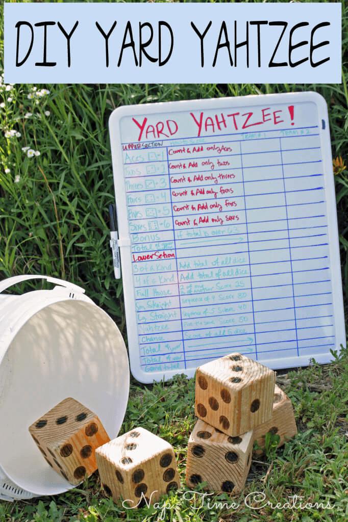 DIY Yard Yahtzee Life Sew Savory