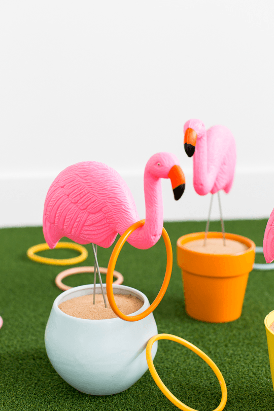 DIY Flamingo Ring Toss by Sugar & Cloth
