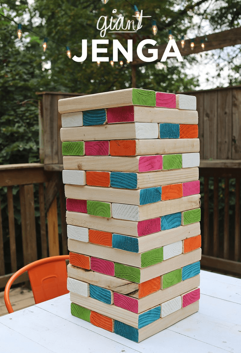 Giant Jenga from A Beautiful Mess