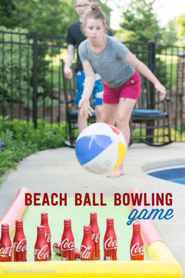 Beach Ball Bowling Game from Polkadot Chair