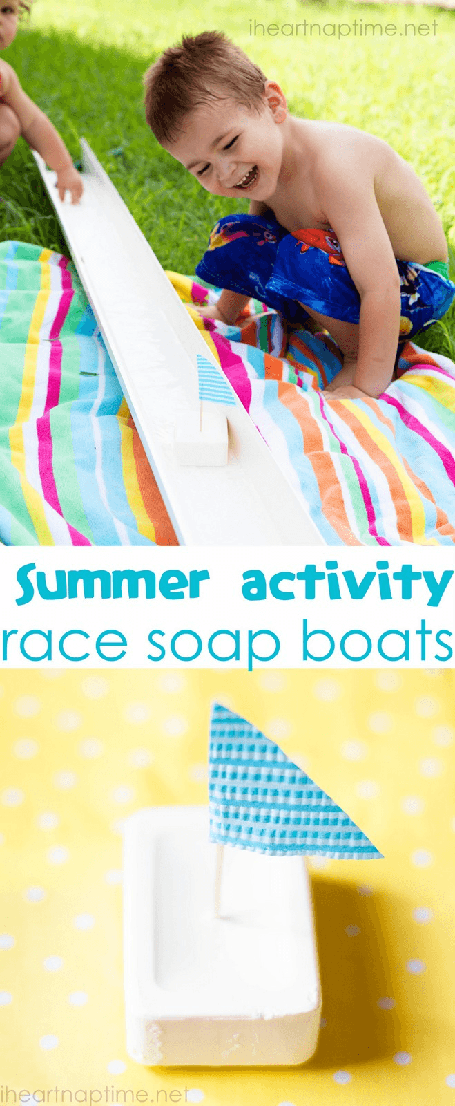 DIY Backyard Games Race Soap Boats from i Heart Naptime