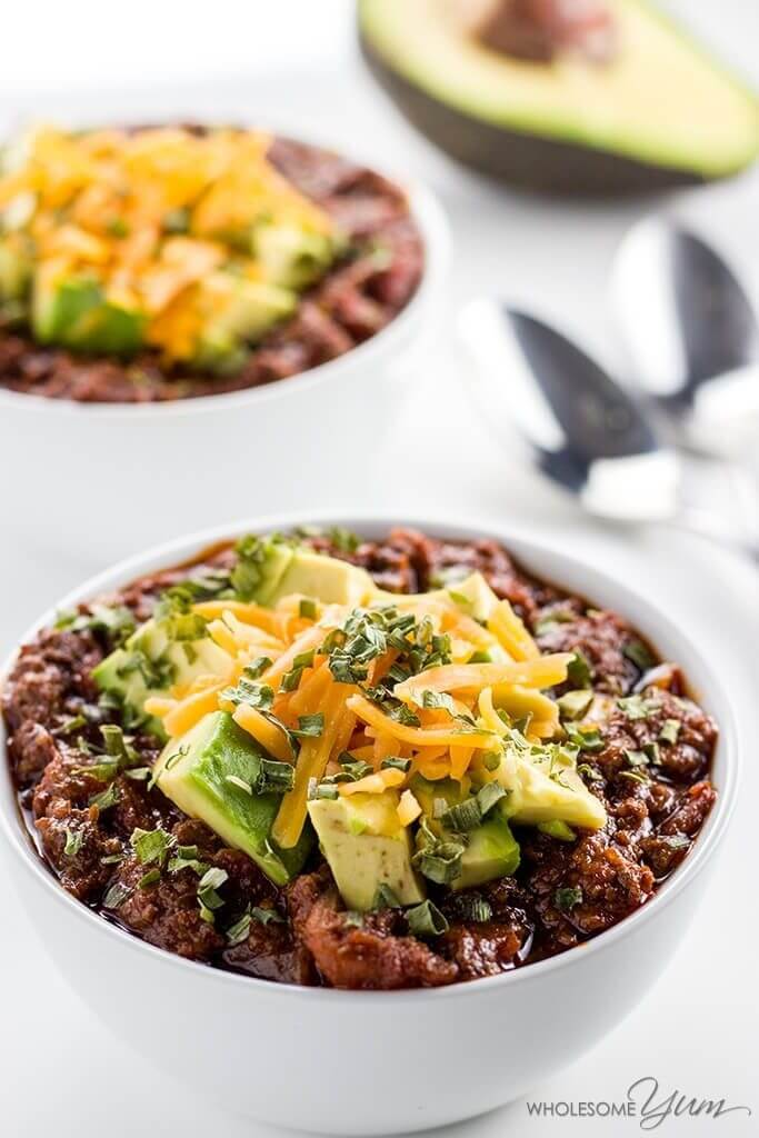 Keto Crockpot Recipes! Finding slow cooking keto recipes for your crock pot just got a lot easier with these 40 healthy ketogenic recipes! Whether you're searching for low carb meals with chicken, beef, pork, or ground turkey this list of keto crockpot recipes has your back with plenty of easy meals, roasts, soups, and chilis families can enjoy! #keto #ketorecipes #lowcarbrecipes #crockpotrecipes #crockpot #slowcookerrecipes