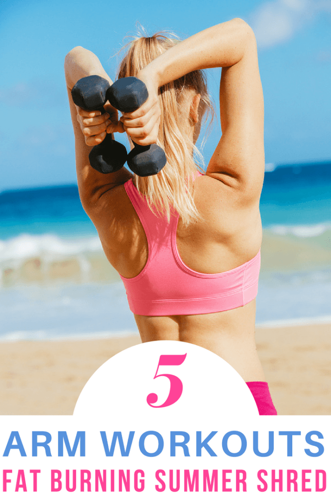 TONE ARMS & BURN FAT FAST with the best arm workouts for women at home! You'll see results fast with these video workouts that tone muscle and target biceps and triceps for toned upper arms.These 5 home workouts for women are perfect for beginners new to strength training. #armworkout #armworkoutwomen #workout #exercise #Workouts #Exercise  #workoutathome