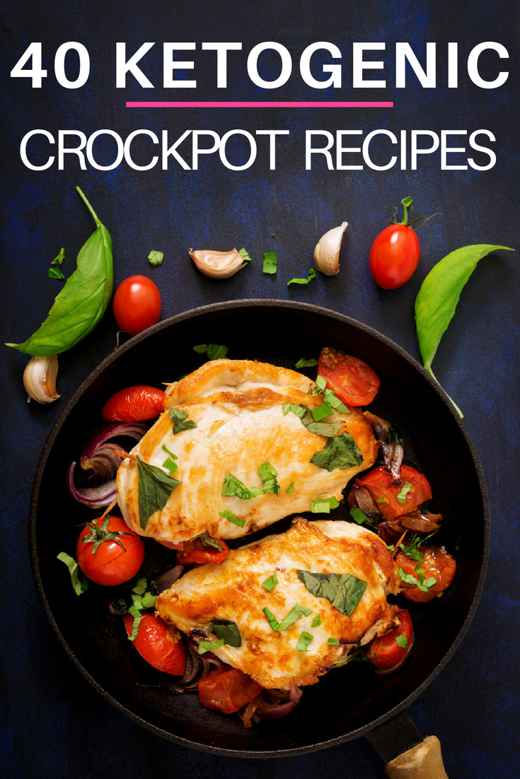 Finding slow cooking keto recipes for your crock pot just got a lot easier with these 40 healthy ketogenic recipes! Whether you're searching for low carb meals with chicken, beef, pork, or ground turkey this list of keto crockpot recipes has your back with plenty of easy meals, roasts, soups, and chilis families can enjoy! With vegetarian and dairy free options this makes keto meal planning simple! #keto #ketogenic #ketosis #ketodiet #ketogenicdiet #ketorecipes