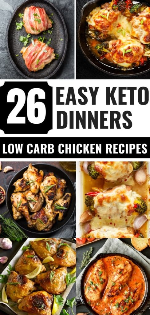 Looking for easy keto recipes for dinner? Check out these 26 keto chicken recipes! These quick keto chicken dinners are perfect for busy weeknights when you need to put dinner together fast! #keto #ketorecipes #lowcarb #lowcarbrecipes #healthy #dinner #chicken #healthyrecipes