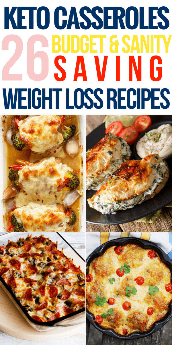 Looking for keto casserole recipes? These low carb keto diet recipes for weight loss are perfect for meal prep and make great easy dinner, lunch, and breakfast! Whether you're searching for keto casseroles with chicken, beef, or vegetarian options this collection has an easy keto recipe you'll love! #ketorecipes #keto #ketogenic #ketogenicdiet #weightlossrecipes #lowcarb #lchf
