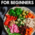 If you're looking for tips on how to start a Plant-Based Diet to lose weight or eat healthier then check out this beginner's guide to the Plant-Based Diet! You'll find grocery lists and 90 simple clean eating recipes for breakfast, lunch, and dinner! With meal planning tips for healthy eating on a budget & a list of sources of protein, you'll have everything you need to reach your weight loss & nutrition goals! #plantbased #vegan #healthy #cleaneating #weightloss