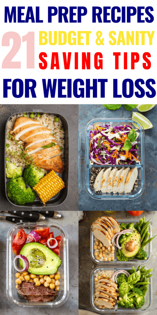 21 Meal Prep Recipes Meal prep for the week just got easier with these simple meal prep ideas and recipes for weight loss! 21 clean eating recipes perfect for weight loss & meal prep! With make-ahead meals for the crockpot, slow-cooker, and freezer for breakfast, lunch, & dinner & fabulous meal prep tips for beginners-this is a must read Meal Prep for the Week guide for everyone trying to lose weight on a budget! #mealprep #cleaneating #eatclean #healthy #mealprepbowls #healthyrecipes