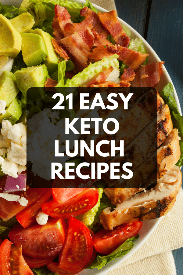 Keto Lunch Ideas! 21 low carb keto lunch recipes perfect for work, home or on the go! These simple low carb recipes make weight loss on the ketogenic diet easy on the go! Enjoy these easy keto recipes with chicken or tuna salad, shrimp, microwaveable soups & chili or go with a low carb wrap, cobb salad or bowl! Never run out of low carb ideas for lunch at work or home with this collection of keto lunch ideas for weight loss!! #keto #ketorecipes #lowcarb