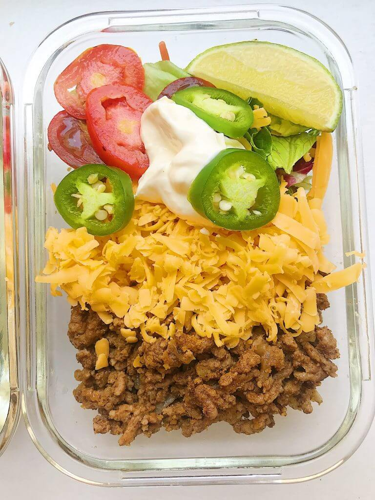 21 Keto Lunch Ideas Easy keto meal prep taco bowls by Megan Seelingler may be the best keto lunch idea ever!
