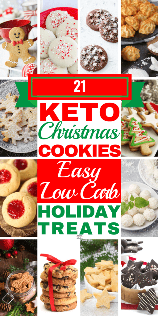 Keto Christmas Cookies! The best low carb keto cookie recipes! Fabulous keto desserts for the holidays! From almond flour cut outs to cream cheese cinnamon snickerdoodles & chewy peanut butter & chocolate these are the cookies of your dreams! Whether you need no-bake recipes or 3 ingredient convenience, these keto cookies will curb your cravings ketogenic diet style! #keto #ketorecipes #ketodessert #ketocookies #lowcarb #nobake