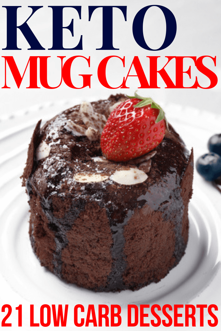 Keto Mug Cake Recipes Looking for easy keto dessert recipes? These keto mug cake recipes will curb cravings in minutes! Made with almond & coconut flour these keto mug cakes are the best keto desserts for weight loss! With flavors like chocolate, vanilla, red velvet, strawberry, berry, lemon, carrot, caramel, cinnamon, and pumpkin you'll find a new favorite low carb dessert in this collection of keto mug cake recipes! #keto #ketorecipes #ketogenic #lowcarb