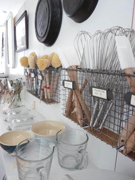 I'm always looking for easy kitchen organization ideas, and these DIY budget-friendly tips! Love this storage idea from Remodelista! #KitchenOrganization #KitchenOrganizationDIY #kitchentips #kitchenideas #organization #organizationideas