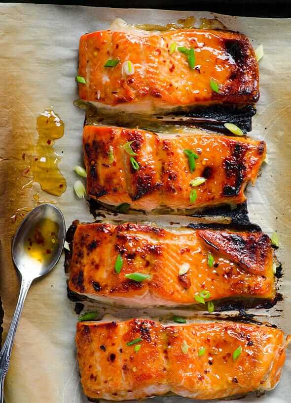 50 Clean Eating Recipes - Thai Salmon iFoodreal