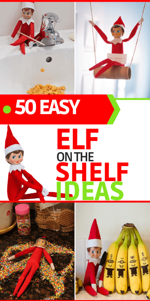 Love these elf on the shelf ideas! So much creative fun for kids and easy too! I've seen a lot of elf ideas, but these are too cute! Lots of last minute Elf on the Shelf ideas you can do quick on this list & I'm using this elf hack! Wow! Don't miss the hilarious elf in the bathroom! #elfontheshelf #elfontheshelfideas #ElfIdeas #elfontheshelfprank