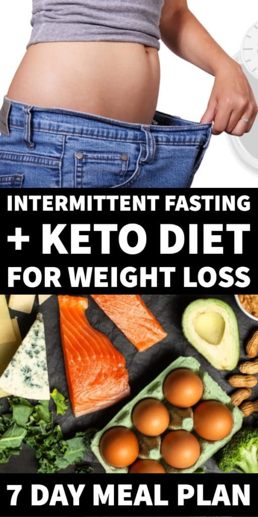 Keto Diet + Intermittent Fasting 16/8, 20/4, 5/2, No matter what Intermittent Fasting schedule you select, having a meal plan for weight loss will increase your results! Read why the keto diet combined with Intermittent Fasting can help you lose weight faster & grab the 7 day Keto Intermittent Fasting meal plan for week 1 with low carb breakfast, lunch, & dinner recipes to help you reach your weight loss goals! #intermittentfasting #keto #ketosis #ketorecipes #ketogenic #lowcarb