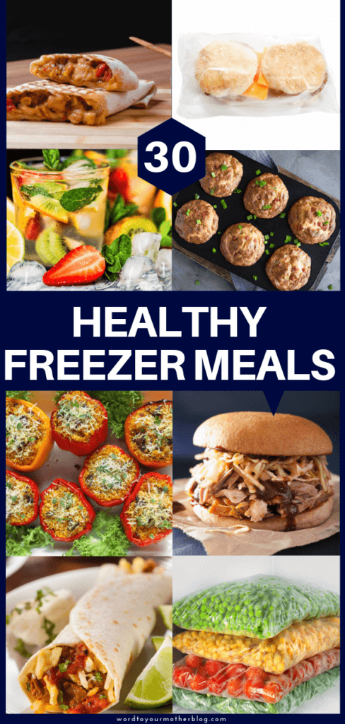 Healthy make ahead freezer meals perfect for new moms & families! These make ahead freezer meals are perfect for meal planning whether you're cooking for a family of two or five! These healthy freezer meals will ensure your family eats a healthy dinner! Save time on meal prep day by letting the crockpot or instant pot do the work for you! #freezermeals #healthy #makeahead #makeaheadmeals #healthyrecipes
