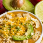 Looking for a keto dinner recipe that's low carb high in flavor & easy to prep for the crockpot? This Keto Crockpot White Chicken chili is the best! Only 6 carbs & easy to make ahead & freeze! Everyone will love this easy keto recipe that's perfect for ketogenic diet beginners-no special ingredients necessary! You can't beat a slow cooking keto meal made easy in the crockpot! Yum! #keto #ketorecipes #lowcarb #LCHF #crockpot #crockpotrecipes