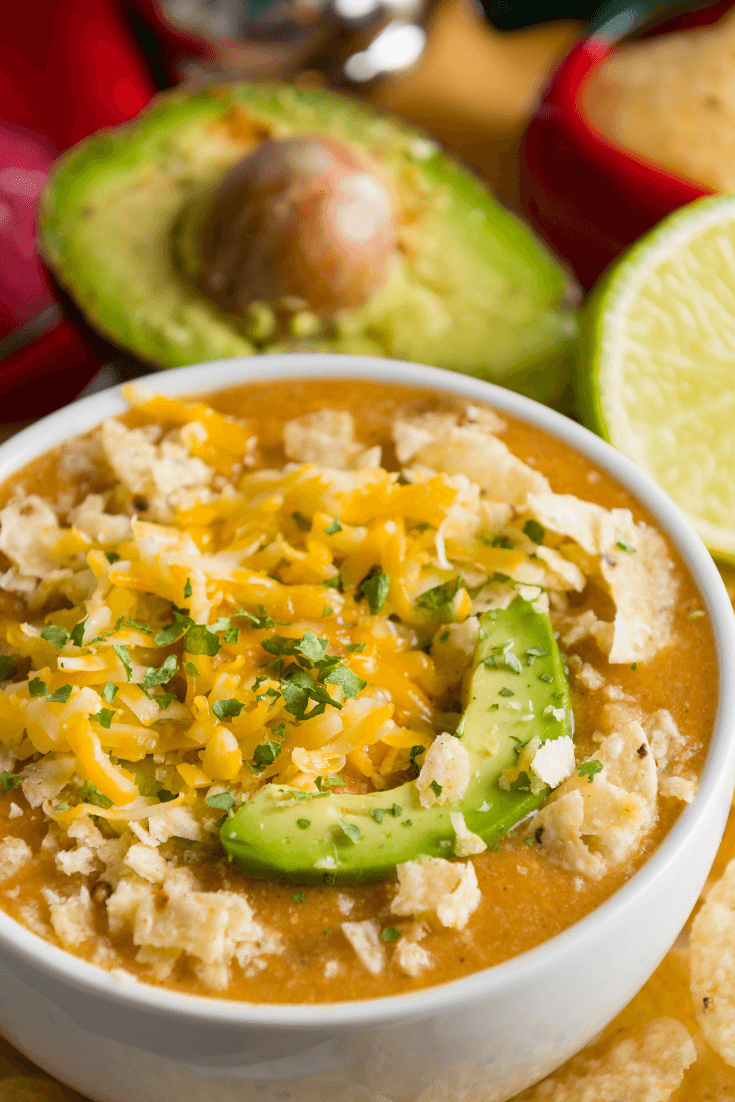 Keto Crockpot White Shredded Chicken Chili Recipe