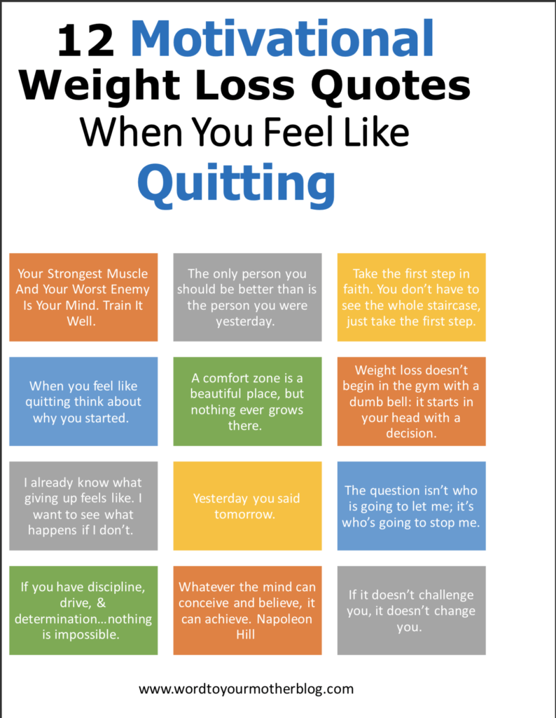 12 weight loss motivational quotes you need when you want to quit