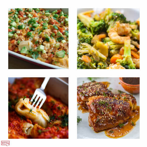 If you're looking for easy and delicious Weight Watchers meals to help you lose weight or eat healthy then you need this collection of Weight Watchers recipes! Over 55 healthy recipes for breakfast, lunch, dinner and dessert plus 10 Weight Watchers snacks under 1 SmartPoint!