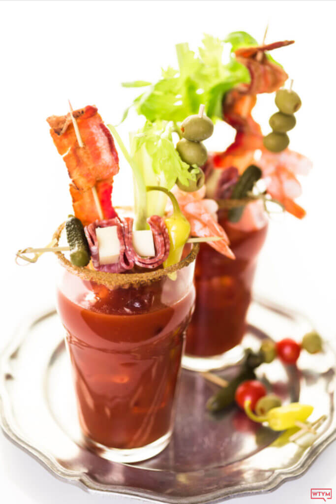 Keto Bloody Mary Recipe Keep your spirits high & carbs low with this easy, spicy keto Bloody Mary! Find out how to make the classic Bloody Mary cocktail keto-friendly with this homemade low carb recipe or build your own with the Keto Bloody Mary Bar Ideas including the best low carb garnishes, skewers, and Bloody Mary rim seasoning recipes! The Ultimate Keto Bloody Mary Cocktail party!