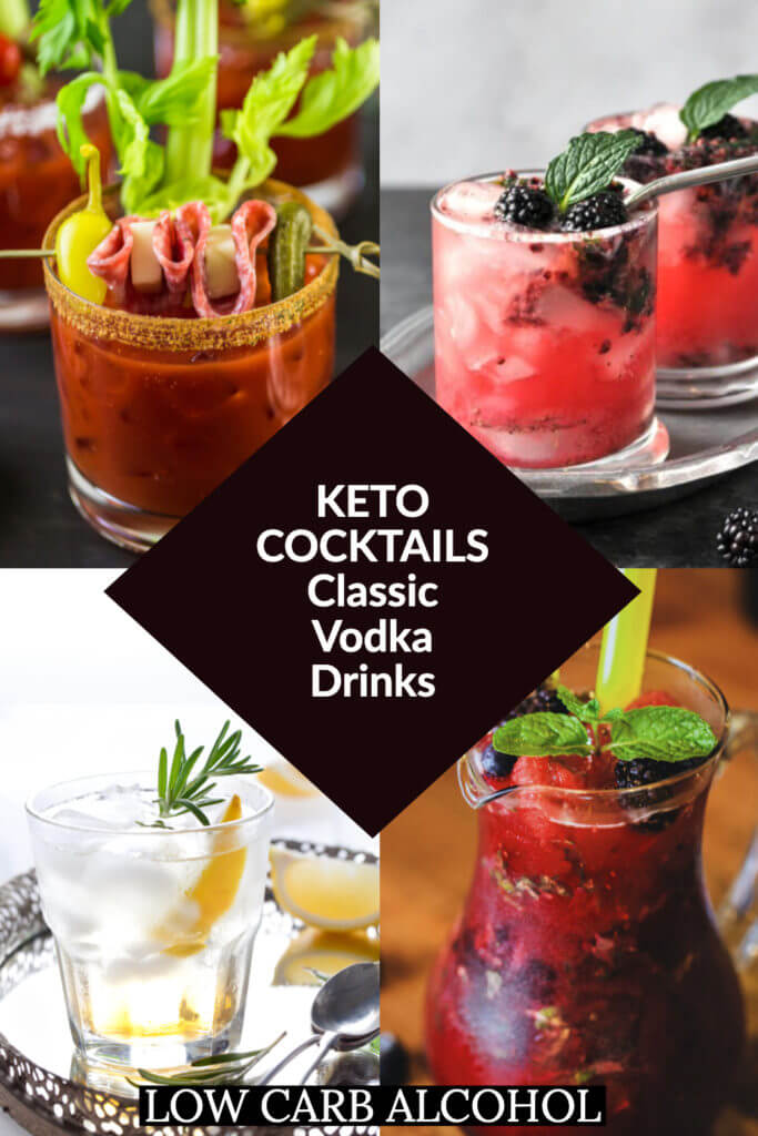 Keto Cocktails. The summer cocktails of your dreams! Skinny Summer low carb vodka cocktails flavored with Crystal light, lime & lemon juice - no sugar added! Low Carb Sex on The Beach, Sangria, Cosmopolitan, Moscow Mule, Lemon Drops & the best Bloody Mary! The best Keto Cocktails for summertime brunches, parties or Happy Hour! #keto #ketosis #lowcarbcocktails #ketococktails #ketodrinks #ketoalcohol #lowcarbalcohol #cocktails