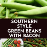 Green Beans With Bacon! Need a keto side dish for dinner? This recipe for Green Beans with Bacon is my favorite low carb side on the keto diet! Fresh green beans with bacon, pan roasted & sauteed with lemon & butter makes an easy keto side dish recipe that's healthy, low carb & ready in 15 minutes! Learn how to make best Southern style green beans with bacon! #keto #ketorecipes #lowcarb #lowcarbrecipes #sidedish #ketosidedish #lowcarbvegetables