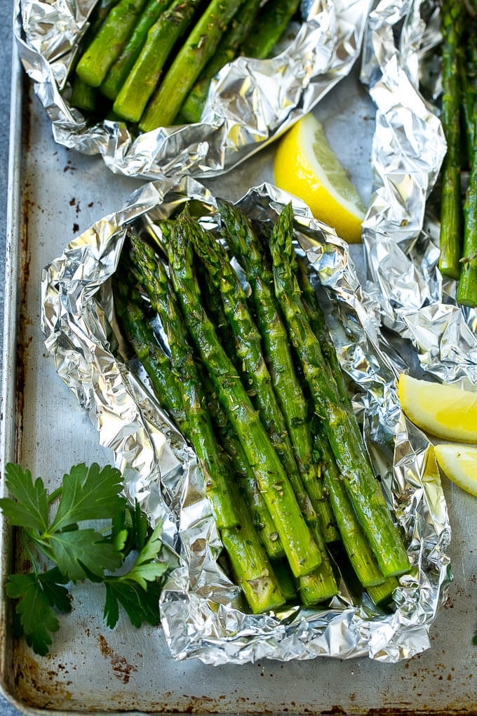 Keto Foil Pack Meals Asparagus via Dinner At The Zoo