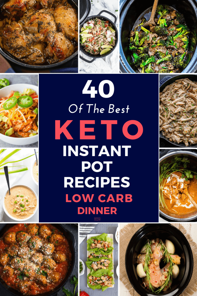 40 Keto Instant Pot Recipes | Searching for low carb keto diet recipes for your Instant Pot? Make these low carb keto recipes quick and fast for dinner tonight! Whether you're looking for chicken, beef, pork, or vegetarian keto recipes for your instant pot you'll find a delicious, simple ketogenic diet meal for weight loss here! #keto #ketorecipes #lowcarb #InstantPot