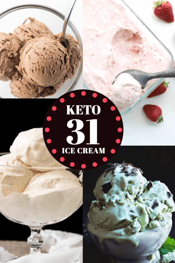 31 Keto Ice Cream Recipes. The best keto dessert recipes! If you're on a low carb ketogenic diet, you'll love these easy low carb, no churn keto ice cream recipes in all your favorite flavors: vanilla, chocolate, strawberry, coffee, peanut butter, mint chocolate chip, & more! Keto Ice Cream makes a perfect healthy keto dessert for a crowd & it's easy to make even if you're a beginner! Don't miss this collection of keto ice cream recipes & low carb frozen treats! #keto #ketorecipes #lowcarb #icecream