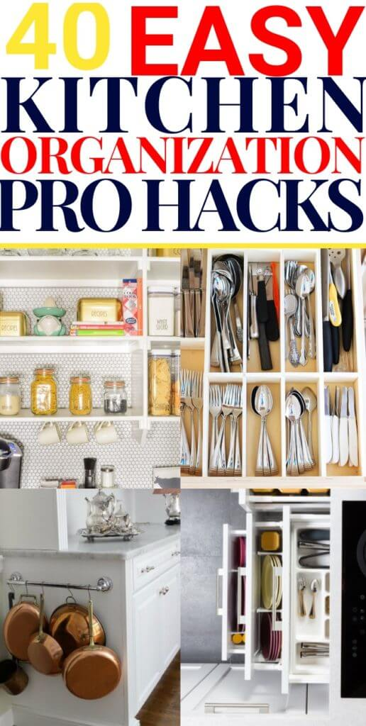 40 Incredibly Clever Hacks To Organize Your Kitchen On A Budget.Organize your kitchen with these 40 DIY kitchen organization hacks on the cheap! Find clever ideas to restore order to your kitchen cabinets, fridge, countertops, drawers, pantries, spice cabinets & more! Check out the dollar store hacks & ingenious methods to organize your kitchen on a tight budget! Don't miss the kitchen organization tips for small spaces: they're brilliant! #kitchenorganization #organization #diyorganization