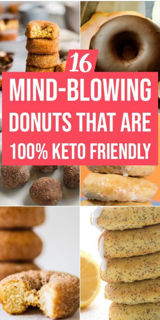 Keto Donuts - the perfect low carb donut recipes (Gluten-Free) Blueberry, chocolate, cinnamon, pumpkin, glazed, lemon & sour cream. These keto donuts with almond flour are delicious, sugar-free, grain-free, and gluten-free - perfect breakfast, snack or dessert for the ketogenic and paleo diets. #keto #lowcarb #breakfast #snack #dessert #paleo #glutenfree #ketobreakfast #donuts