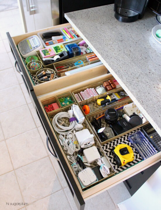 75 Organization Ideas Drawers via i heart organizing
