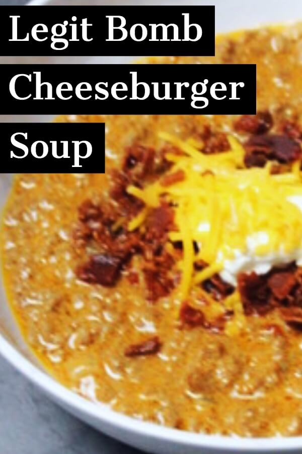 Looking for a keto dinner recipe that's low carb & easy? This Keto Cheeseburger Soup with Bacon & Cream Cheese is the best! Only 3.1 net carbs! Make it in the crockpot, Instant Pot or Stove! Perfect for keto diet beginners! You can't beat a slow cooking keto crockpot soup made easy! #keto #ketorecipes #ketodinner #lowcarb #crockpot #crockpotrecipes #InstantPot #slowcooker #bacon #cheeseburger