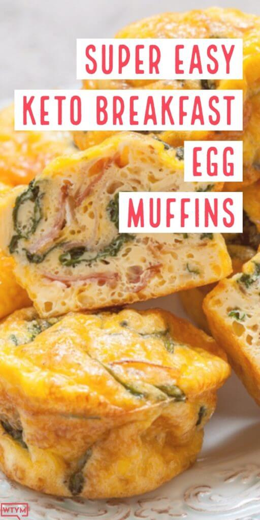 Easy Keto Egg Muffins Need a keto breakfast recipe you can make ahead on meal prep day? These easy low carb muffins are perfect for the ketogenic diet & busy mornings! With only 1.5 net carb per muffin this is the best keto breakfast recipe to take on the go & makes a fabulous keto snack! #keto #ketorecipes #ketogenic #lowcarb #lowcarbrecipes #breakfast
