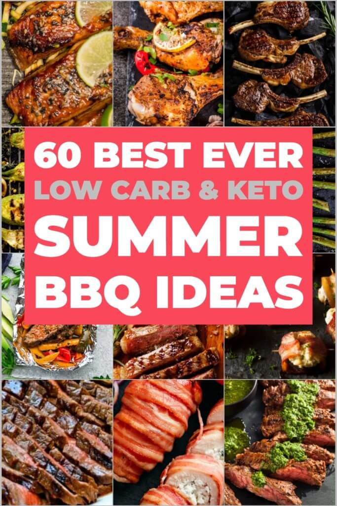 60 Best Keto Grilling Recipes! If you're following a low carb, ketogenic diet you need these keto BBQ recipes for summer! All of the best chicken, pork, beef, steak, shrimp, salmon, fish & veggies for the grill! My favorite grilling recipes for summer - low carb, sugar-free & keto-approved for weight loss! Don't miss these easy keto recipes that'll make you want to fire up the grill ASAP! #keto #ketorecipes #lowcarb #grill #grilling #summer #ketogrill #onthegrill
